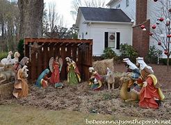 Image result for free pics of nativity outside house