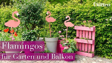 bastelanleitung deko flamingos für garten und balkon