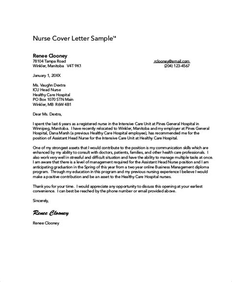 NURSING COVER LETTER EXAMPLE FREE WORD PDF