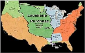 Image result for U.S. purchased the Louisiana Territory from France