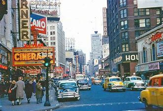 Image result for 1950s US city