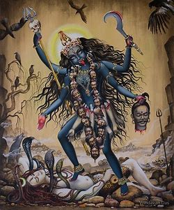 Image result for images of Kali the destroyer with sword