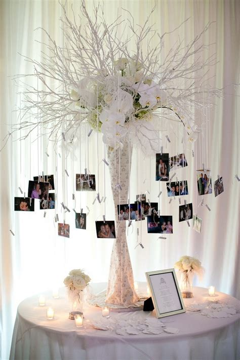 creative diy photo display wedding decor ideas tulle