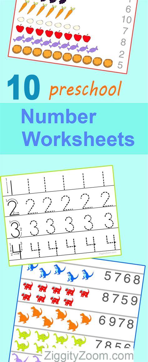 preschool math worksheets number recognition