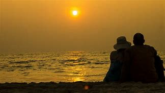 Image result for free pics of  siluett on beach  of older  husband and wife