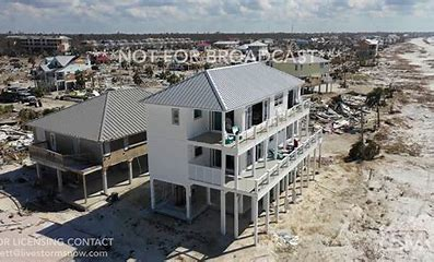 Image result for pictures of houses after hurricane still standing