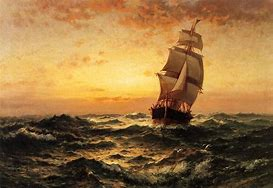 Image result for Ships at Sea 19th century Art