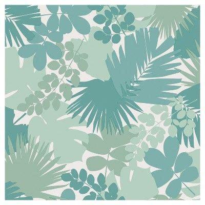 devine color jungle peel stick wallpaper horizon blue