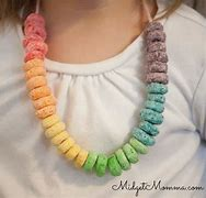 Image result for free pic necklace made with cherrieos cereal