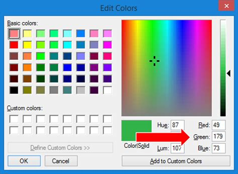 how to find your custom color codes with paint depict