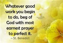 Image result for Saint Benedict Quotes