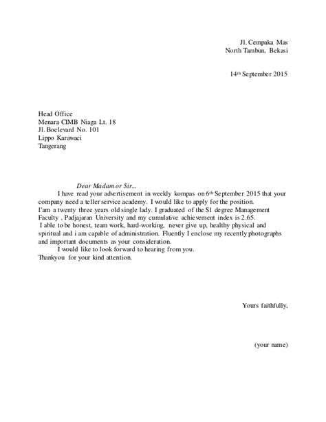 CONTOH APPLICATION LETTER PWC I WRITE ESSAYS