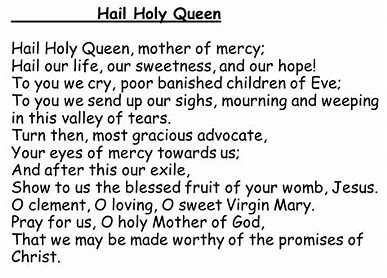 Image result for hail holy queen prayer