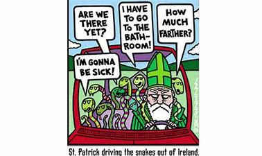 Image result for st patrick driving out snakes