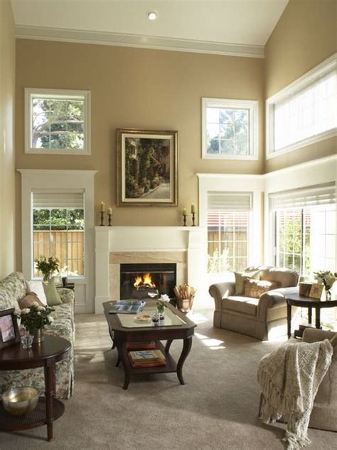 contemporary living room with cream soft painting design