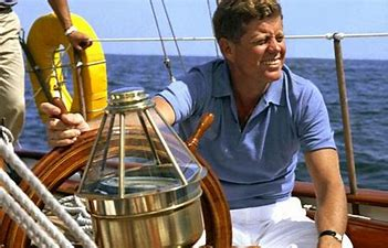 Image result for images jfk on sailboat