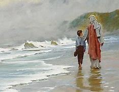 Image result for free picture of walking with jesus