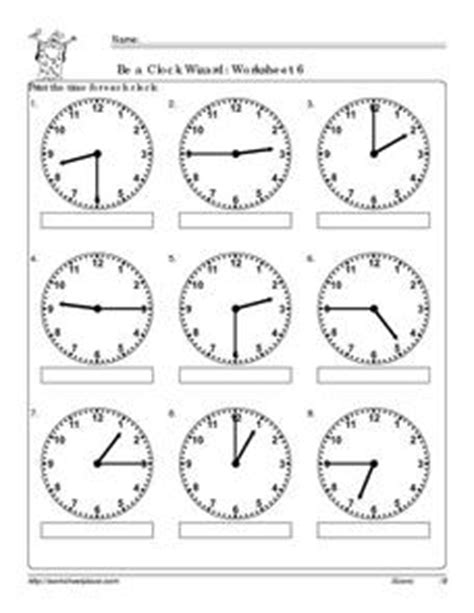 be a clock wizard worksheet worksheet for nd rd