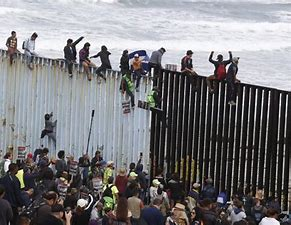 Image result for images chaos at the border illegal immigrants