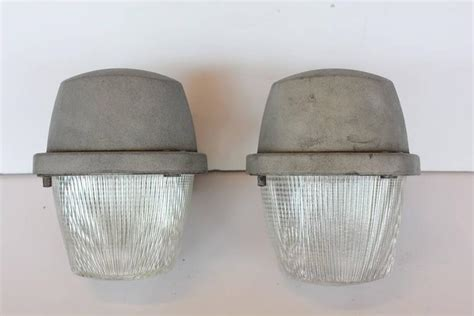 large industrial holophane wall sconces for sale at stdibs
