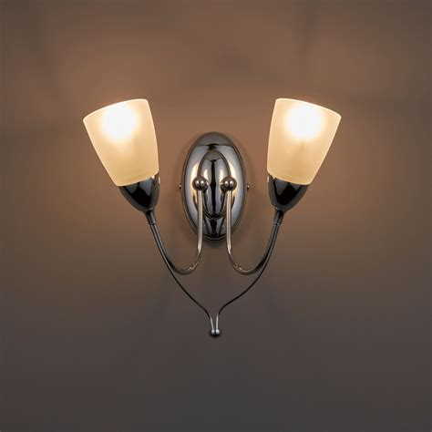venus chrome effect double wall light departments diy