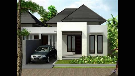 contoh desain gambar rumah minimalis atap limas youtube