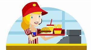 Image result for fast food worker clip art