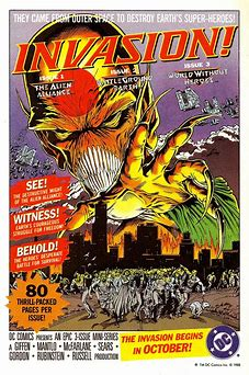 Image result for images comic book cover alien invasions