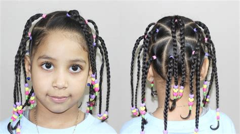 hairstyle with beads hairstyles for kids youtube
