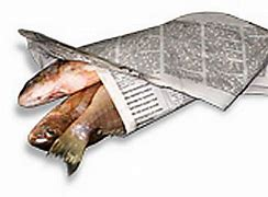 Image result for dead fish in a newspaper