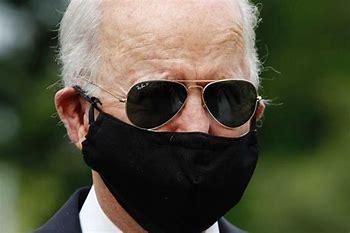 Image result for image joe biden in triple masks