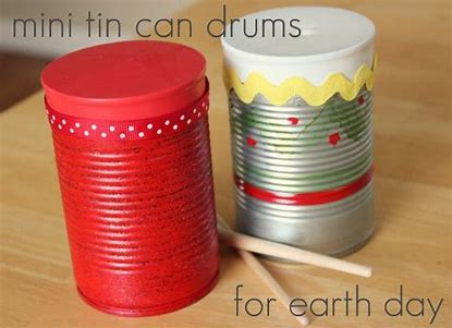 Image result for homemade drum with tin can