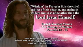 Image result for the messiah Jesus Christ in the Proverbs