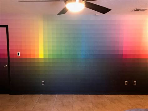 when you can t decide on a wall color paint your wall all