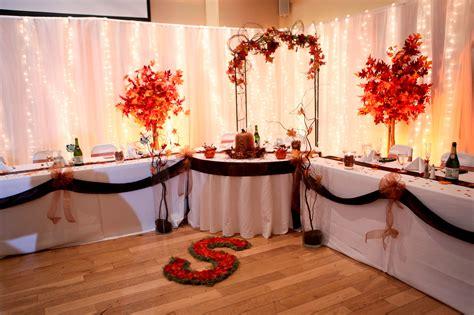 fall head table ideas in fall wedding colors head