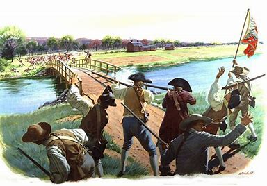 Image result for Battle of Lexington and Concord North Bridge
