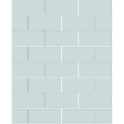 brewster in x in galley light blue subway tile