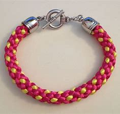 Image result for pink and yellow bracelet