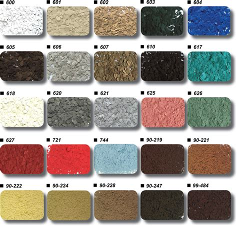 epoxy floor color charts garage excell
