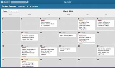 Image result for Develop a content calendar