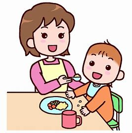 イラスト無料 1歳児 食事 に対する画像結果