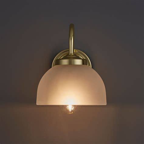 grantchester brass effect single wall light departments