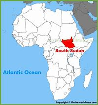 Image result for South Sudan Africa Map