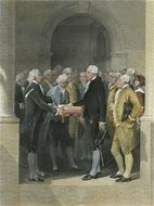 Image result for George Washington took office as first elected U.S. president.