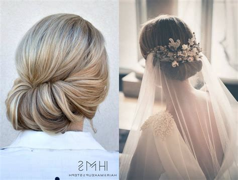 inspirations of messy french roll bridal hairstyles