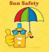 Image result for be safe in the sun clip art