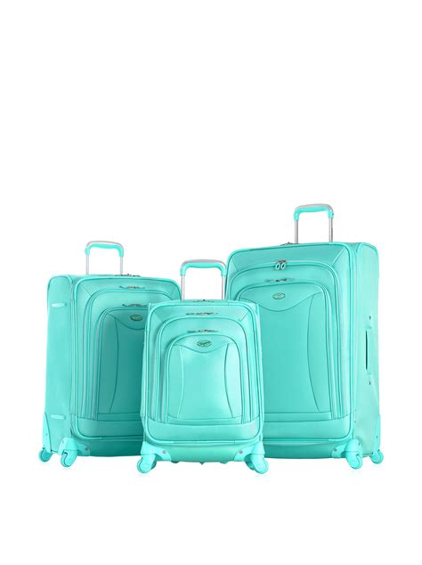 olympia international luxe piece softcase luggage set