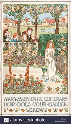 Image result for images mary mary quite contrary garden