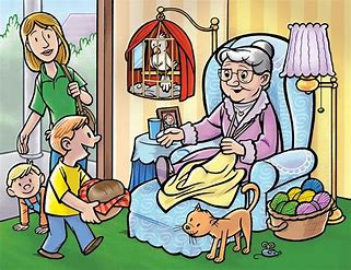Image result for Visiting Grandma Cartoon