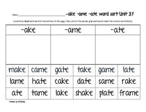 new first grade cut and paste reading worksheets